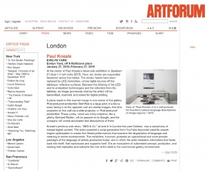Art forum Review Paul Kneale Feb 2015