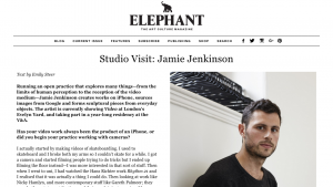 Elephant Magazine: Studio Visit Jamie Jenkinson